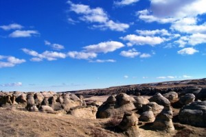 7 fair weather cumulus writing on stone