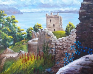 2009 11 07 #8 Urquhart Castle for Colin 16 x 20s