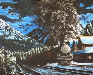 2011 07 27 Leaving Banff Station 16x20s