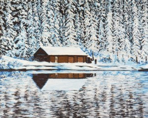 2014 02 22 Boathouse at Lake Louise 16x20s