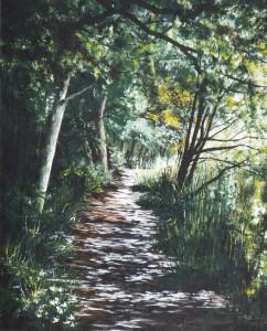 2015 11 21 Sissinghurst Lake Path 16x20s